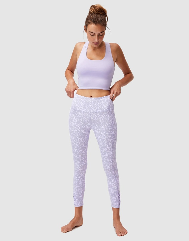 Women Love You A Latte 7/8 Active Tights