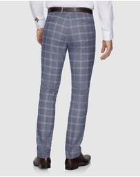 Yd. - Elton Skinny Check Dress Pants