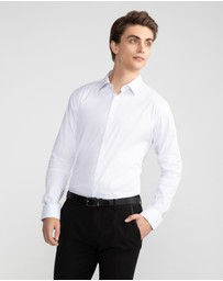 yd. - Plain Stretch Slim Fit Shirt