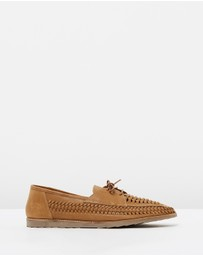 Double Oak Mills - Alvaro Woven Leather Moccasins