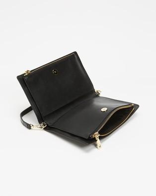 DKNY Convertible Demi Wristlet Clutch - Clutches (Black & Gold)