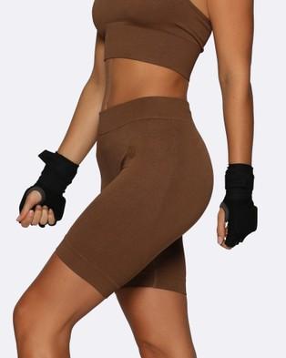 Nicky Kay Seamless Bike Shorts - Shorts (Brown)