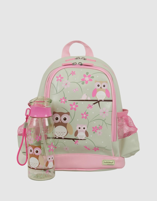 Bobbleart - Small Backpack and Drink Bottle Pack Owl