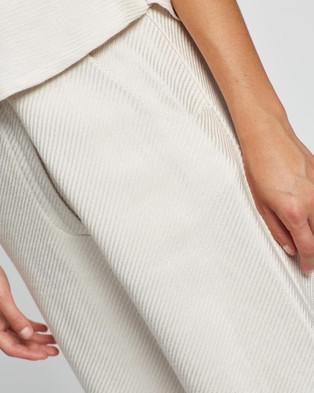 BONDI BORN The Line Trousers - Pants (Oyster)
