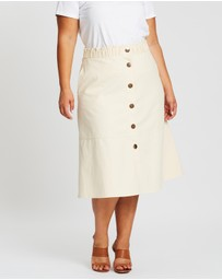 Atmos&Here Curvy - Willow Midi Skirt