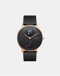 Nokia - Nokia Steel HR Watch - 36mm, Rose Gold/Black