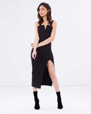 Ivory & Chain – Molly Suedette Dress – Dresses (Black)