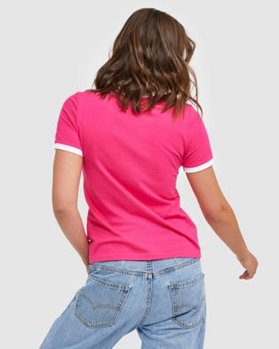 Fila Classic Ringer Tee - T-Shirts & Singlets (Beetroot)