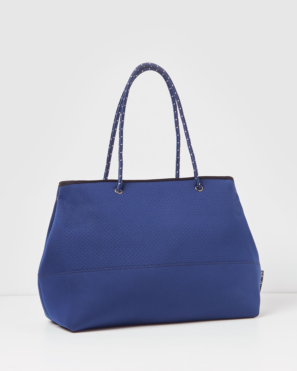 Miz Casa and Co Ivy Neoprene Tote Bag Bags Navy Blue