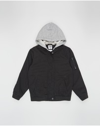 Cotton On Kids - Staple Hooded Bomber - Kids
