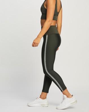 The Upside Nadiya Dance Midi Pants - 7/8 Tights (Green)