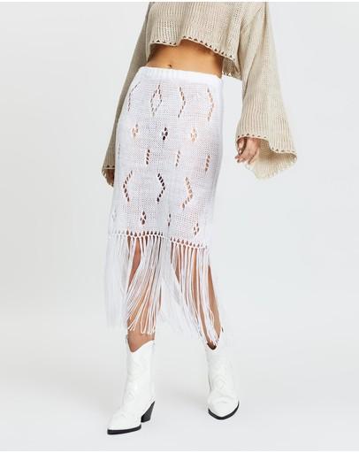 Love And Light The Label Bella Skirt White