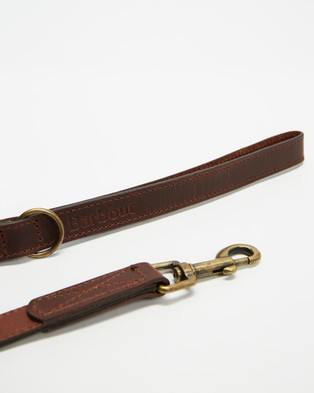 Barbour Wax Leather Dog Lead - Pets (Olive)