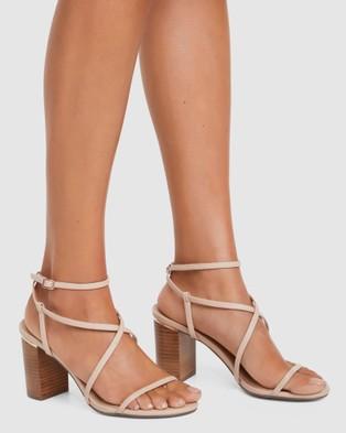 Forever New Tabby Mid Block Heels - Heels (Nude)