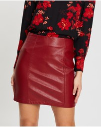 Dorothy Perkins - Seam PU Mini Skirt