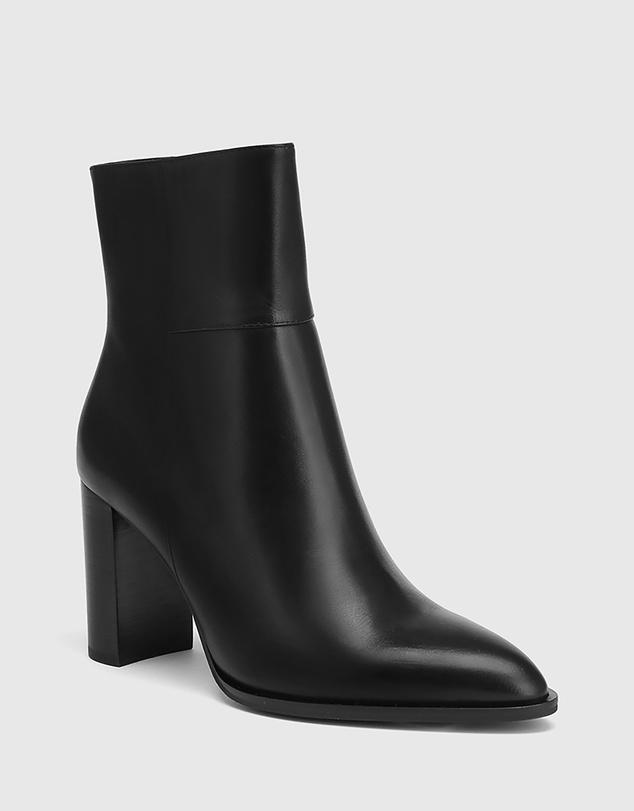 Women Hewitt Leather Block Heel Ankle Boots