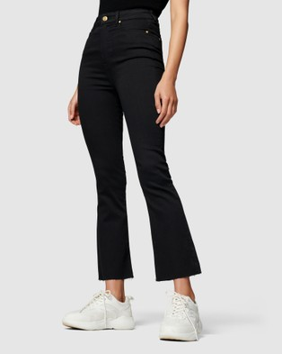 Forever New Nadia High Rise Bootcut - High-Waisted (Black)