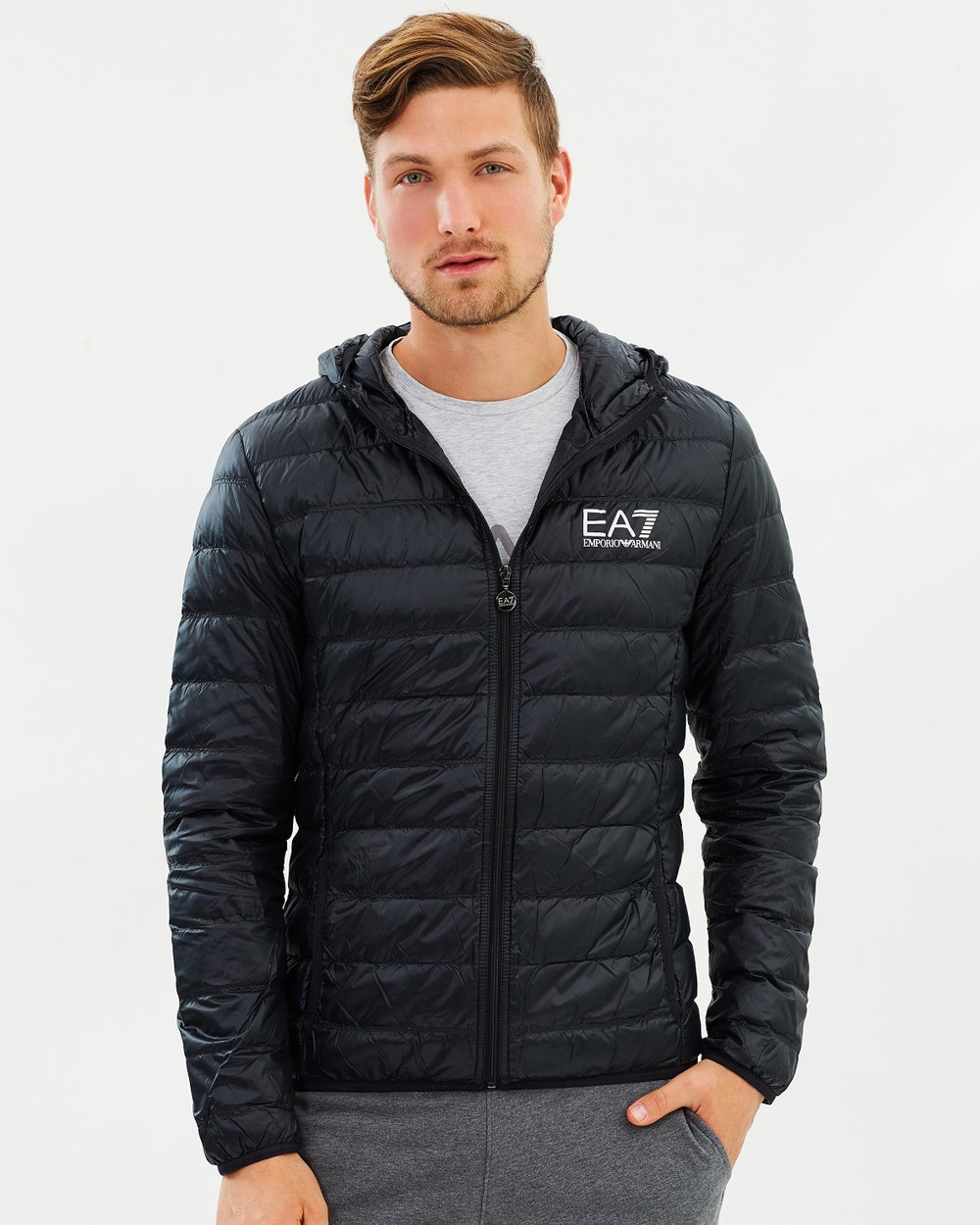 85c3baa78e45 Train Core ID Light Down Jacket by Emporio Armani EA7 Online