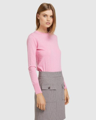 Oxford - Emily Crew Neck Knit Jumpers & Cardigans (Pink)