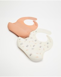 Bebe by Minihaha - 2 Pack Silicone Bibs - Babies