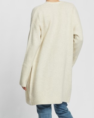 Nude Lucy Avery Cardigan - Jumpers & Cardigans (Cream Marle)