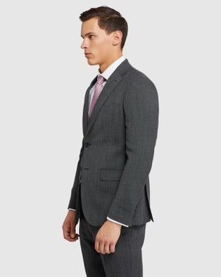 Oxford Byron Wool Stretch Suit Set - Suits & Blazers (Grey)