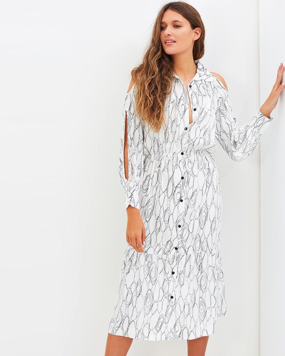 S-W-F Giselle Dress Dresses Monochromatic Print Giselle Dress