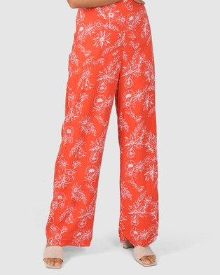 Lost in Lunar  Esther Pants - Pants (Terracotta)