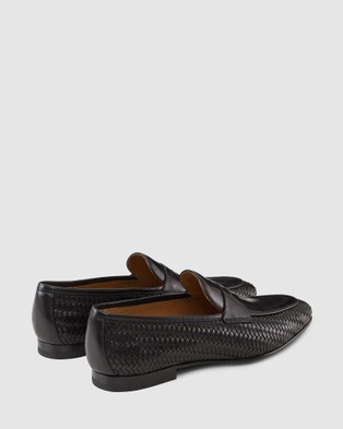 Aquila - Wendell Penny Loafers Flats (Black)