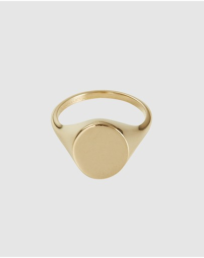 Wanderlust + Co Signet Gold Sterling Silver Ring