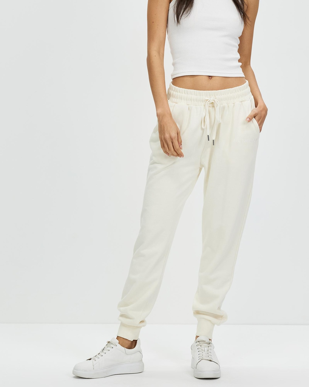 All About Eve Washed Track Pants NATURAL