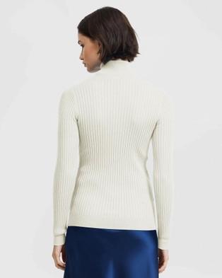 ARIS Turtleneck Sweater - Tops (White)