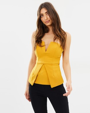 DELPHINE – New Realm Top – Cropped topsMustard