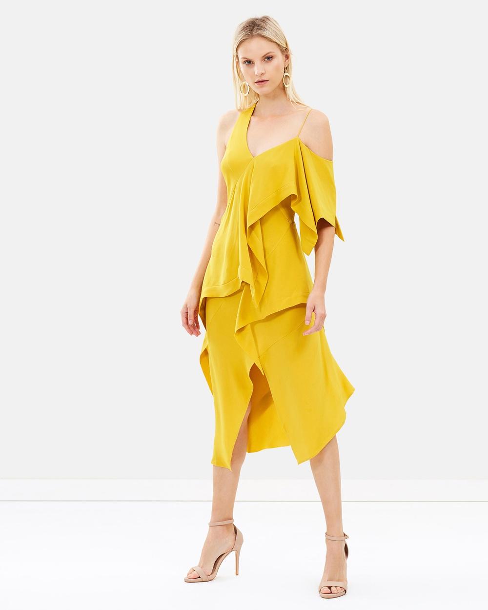 KITX Diversity Spiral Dress Dresses Tumeric Diversity Spiral Dress