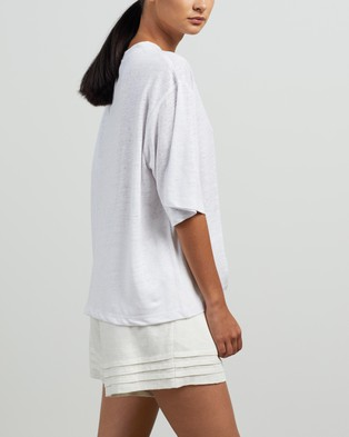 Andrea & Joen Martine Crop Tee - T-Shirts & Singlets (Ivory)
