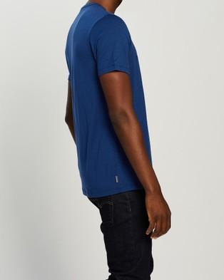 Icebreaker Tech Lite Short Sleeve Crew Cadence Paths Tee - Short Sleeve T-Shirts (Estate Blue)