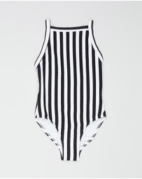 Seafolly - Ribbed Tank Swimsuit - Kids-Teens