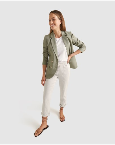 Sportscraft - Frida Double-Breasted Linen Blazer