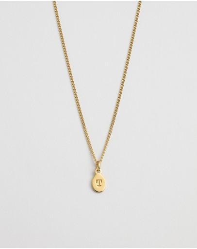 Kirstin Ash Initial T Necklace 18k Gold Vermeil