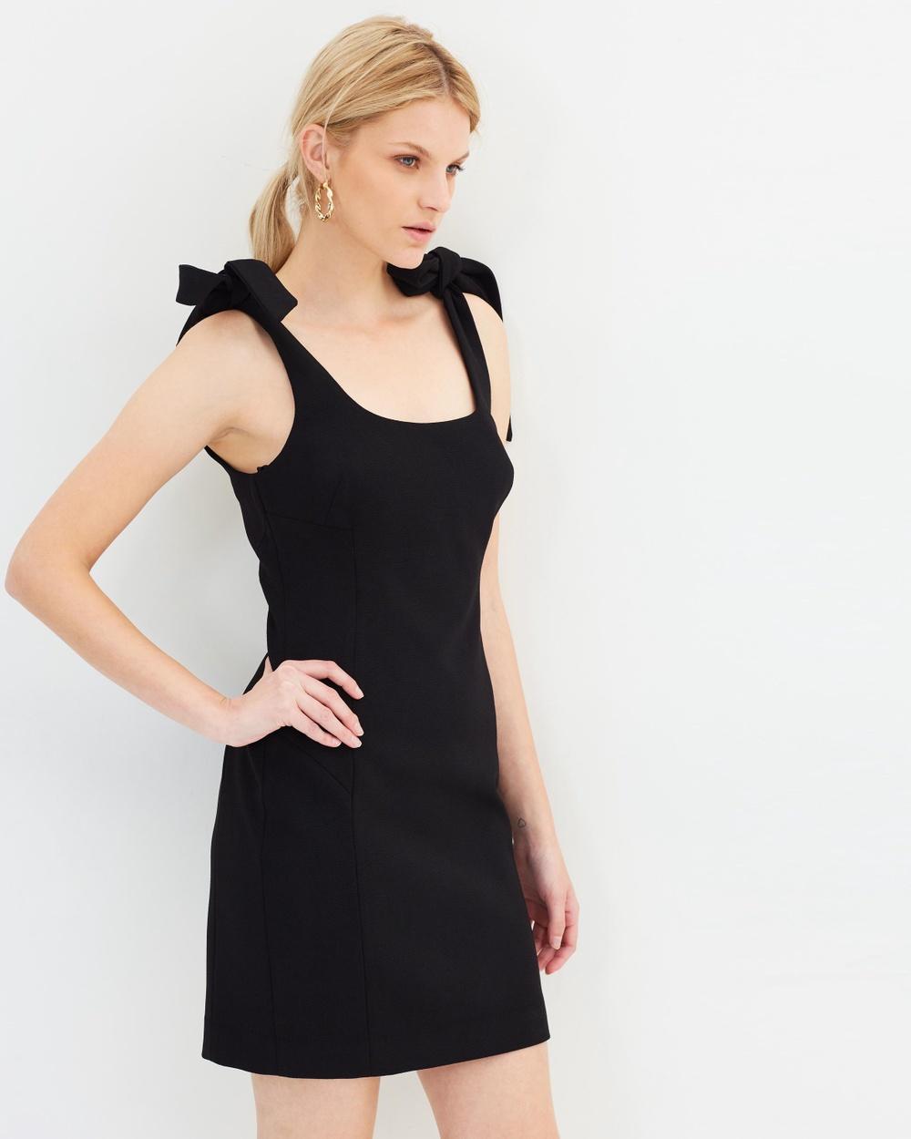 Rebecca Vallance Black Dahlia Mini Dress