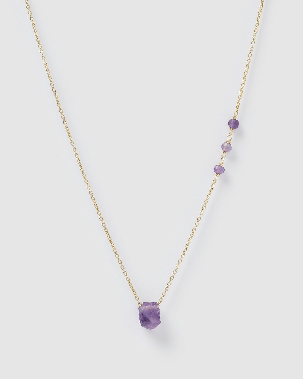 Arms Of Eve Phoenix Gold and Amethyst Necklace Jewellery Gold