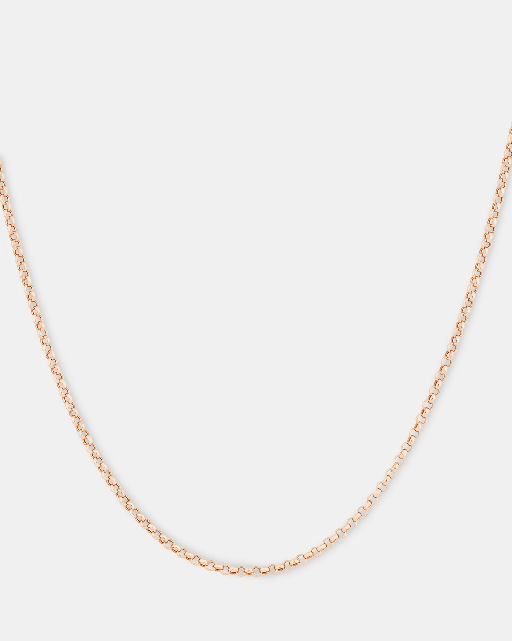 Michael Hill 50cm Hollow Belcher Chain in 10ct Rose Gold Jewellery Rose