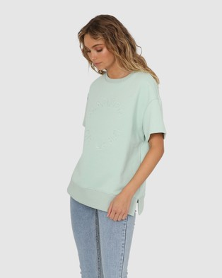 Madison The Label Madison Sweater Tee - T-Shirts & Singlets (Sage)