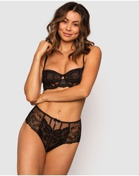 Bras N Things - Bethany High Waisted V String Knicker