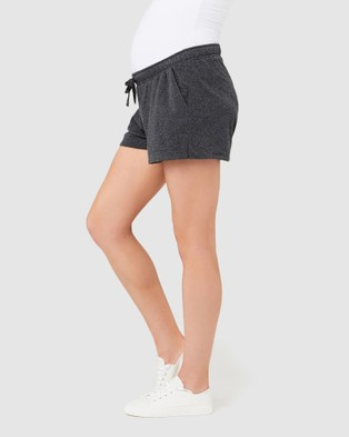 Ripe Maternity Organic Jersey Shorts - Sleepwear (Charcoal Marle)