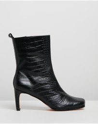 Atmos&Here - Jeanne Leather Ankle Boots
