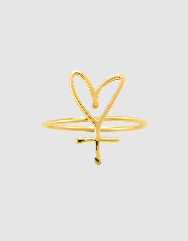 Women Small Symbol Sisterhood Ring