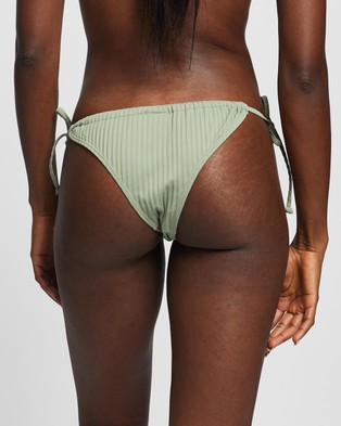 Cotton On Body Gathered Tie Brazilian Bikini Bottoms - Bikini Bottoms (Khaki Rib)