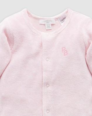 Purebaby Velour Growsuit   Babies - Longsleeve Rompers (Pale Pink Melange)