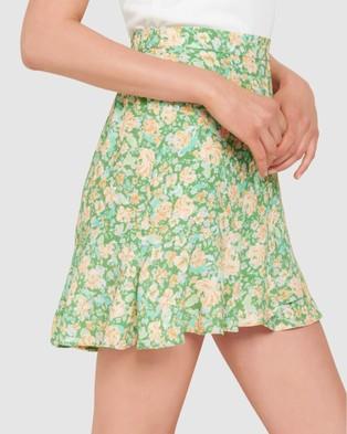 Forever New - Giselle Mini Ruffle Skirt - Skirts (Peach Garden Blossom) Giselle Mini Ruffle Skirt